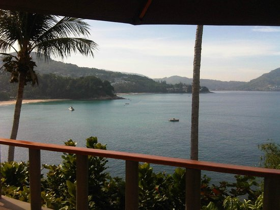 Amanpuri : view from our room (notice the round wooded thing in the middle of the ocean)