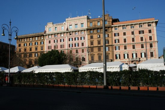 "A View of Rome:                   Looking back at ""A Touch of Rome"" from the markets below"