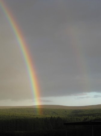 Ballyeamon Barn:                   one of the many rainbows that can be seen at the barn - view from the entrance