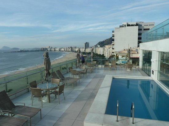 Arena Copacabana Hotel:                   View south from the roof