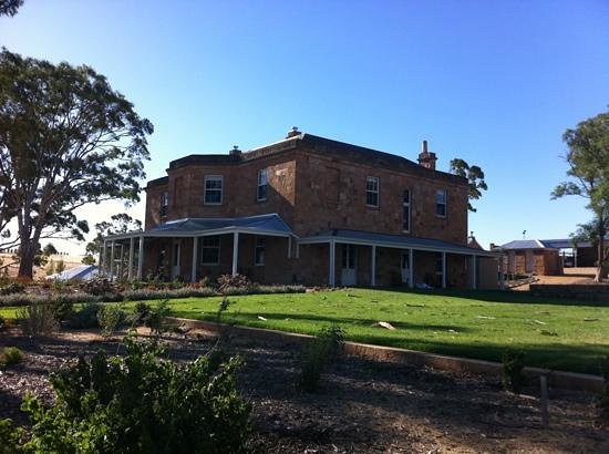 Kingsford Homestead:                   View of homestead from the garden.