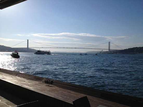 Del Mare:                   Amazing views from the terrace on the Bosporus