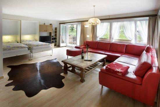 Wohnzimmer Mit Klappbetten 3 Zimmer Wohnung Esplanade - Bild Von