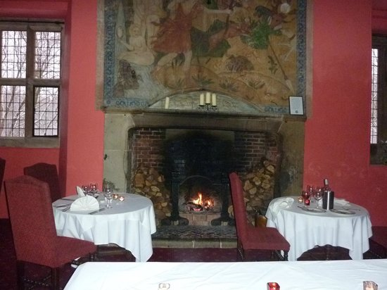 Mercure Telford Madeley Court Hotel:                   The fire place in the dining room