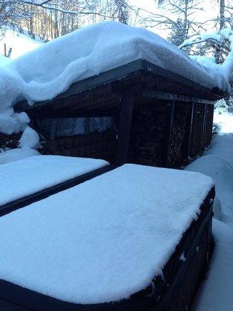 Chalet Fiona: Hot tub ends the day perfectly