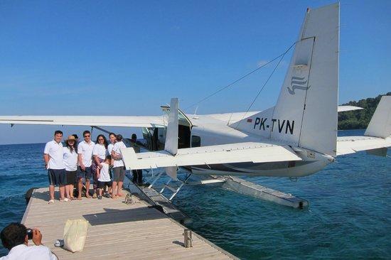 Flying home from Amanwana