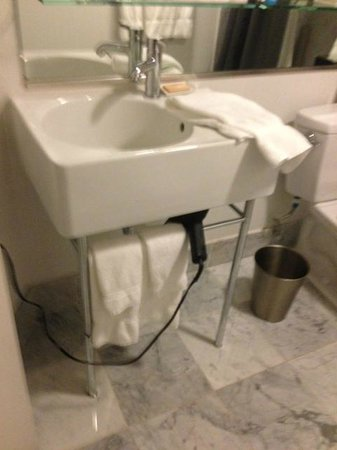 Hotel Murano:                   Hairdryer can be conveniently hunt under the sink.