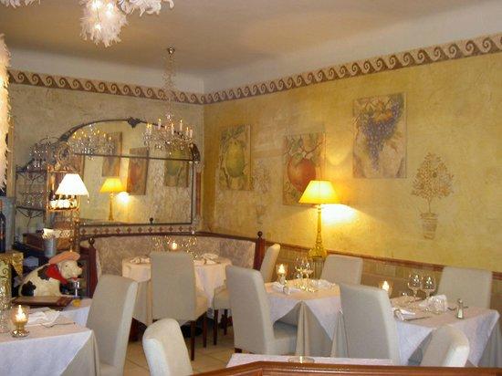 Restaurant Le Leonardo: la salle en hiver