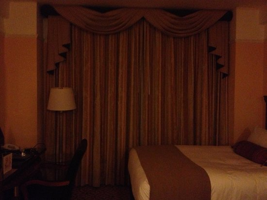 InterContinental New York Barclay:                   The blacked out curtains