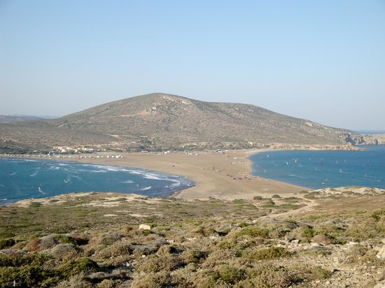 Rhodes, กรีซ: Prasonisi the southernmost part of the island