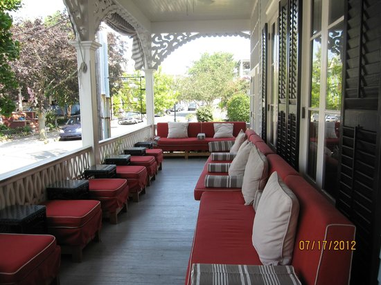 The Virginia Hotel:                   Porch of Virginia Hotel, perfect for breakfast or evening drinks