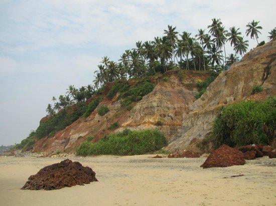 Varkala Beach:                   Südkliff