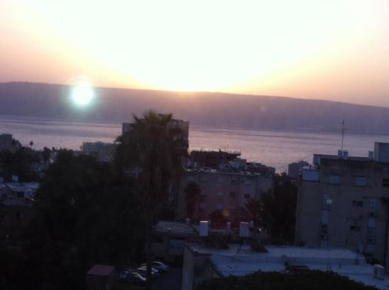 Hotel Eden:                   view from my floor to the Sea of Galilee, sunrise !!