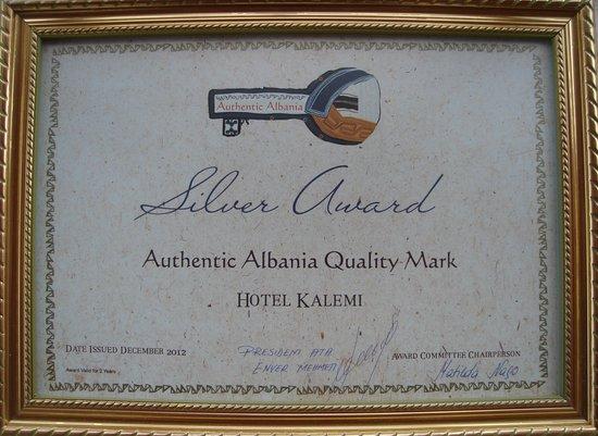 Hotel Kalemi: Silver Award.