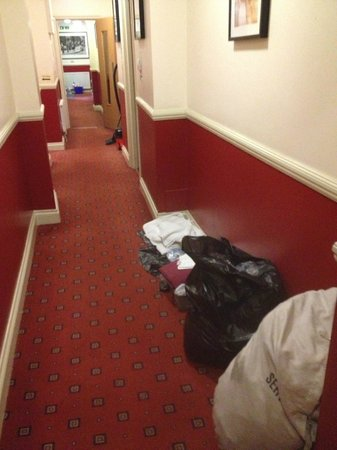 Comfort Inn Buckingham Palace Road:                   Housekeepers clutter the halls
