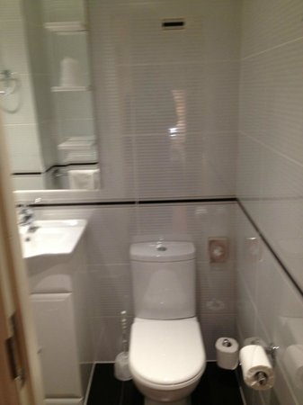 Comfort Inn Buckingham Palace Road:                   Small Bathroom