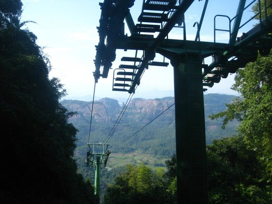 Shaoguan Danxia Mountain Geopark:                   Cable car to mountain top