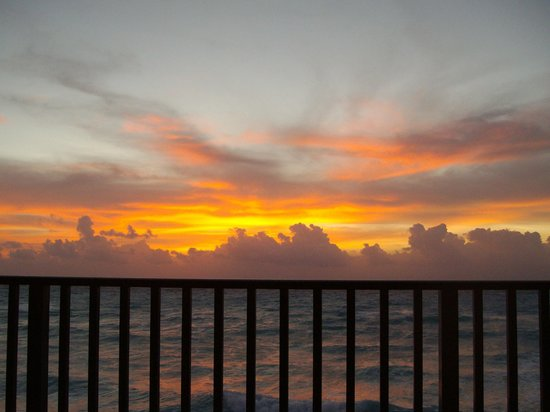 The Royal Islander All Suites Resort:                   Ahhh, sunrise from the balcony