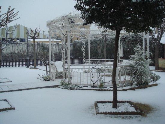 Hotel La Zubia: Jardín nevado