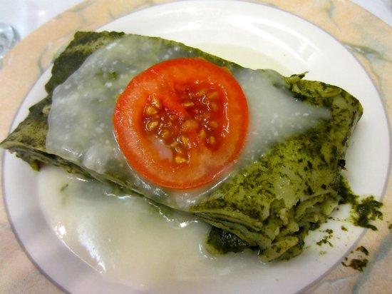 Carmel Pince :                   Non-dairy lasagna (?)