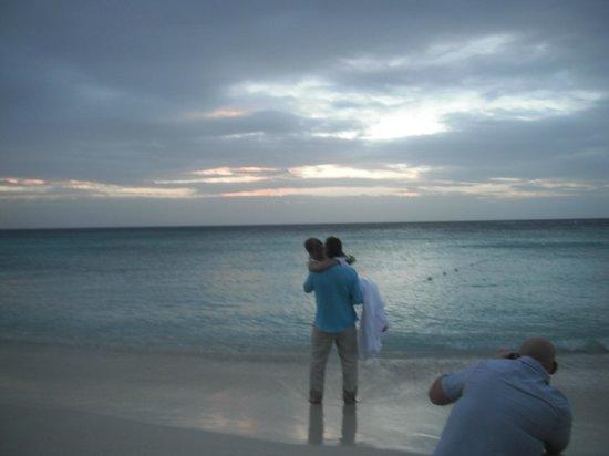 Mayan Princess Beach & Dive Resort:                   Bride & Groom & Sunset