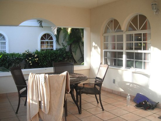 Mayan Princess Beach & Dive Resort:                   Our Terrace!