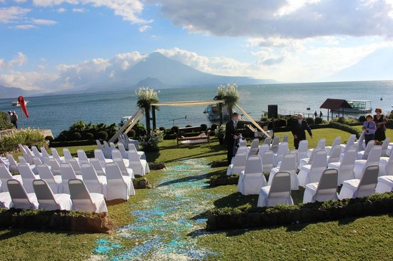 Hotel Atitlan: Setting for the wedding