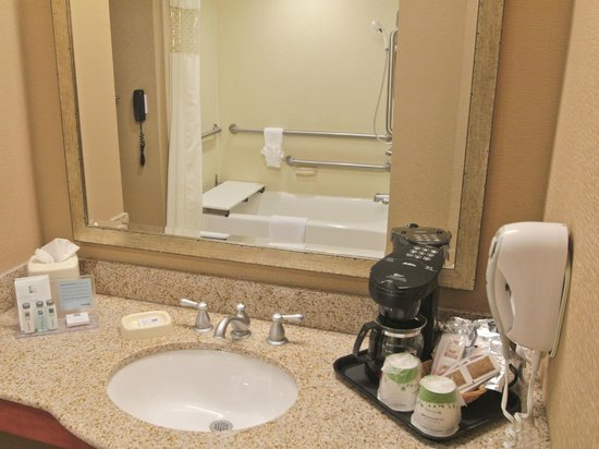 Hampton Inn Hampton-Newport News: Accessible Bathroom