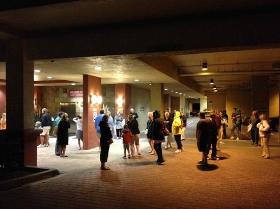 DiamondHead Beach Resort Hotel: Evacuation