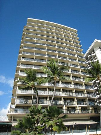 Outrigger Waikiki Beach Resort:                   hotel exterior that faces the beach
