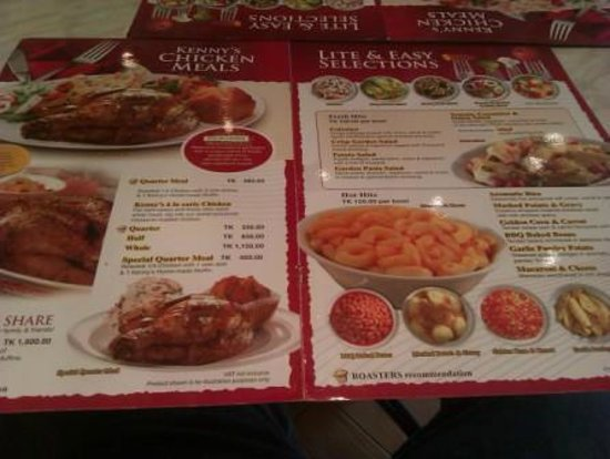 Menu - Picture of Kenny Rogers Roasters,, Dhaka City ...