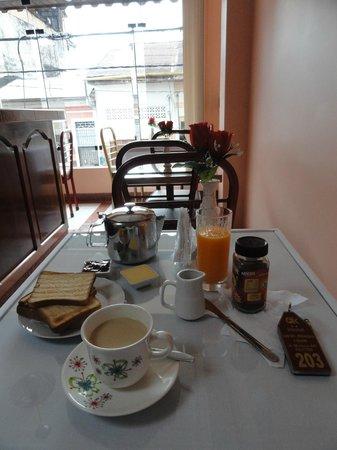 OK Hostal : Muy rico Desayuno