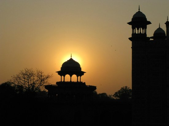 The Oberoi Amarvilas:                   Sunset by the Taj Mahal mosque