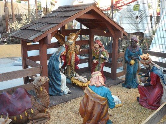 Knott's Soak City U.S.A.: Nativity scene at the entrance.