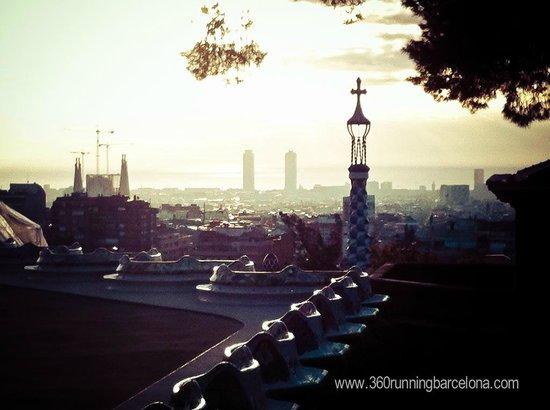 360 Running Barcelona: Park Güell, Antoni Gaudí