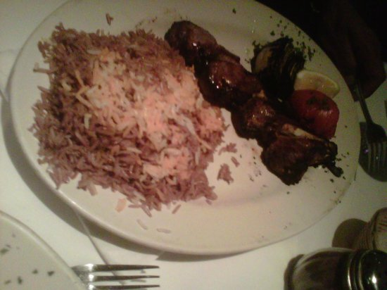 Canzaciti Roadhouse: Hubby had shish-ko-bob with brown rice