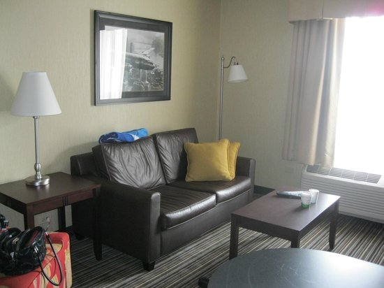 Hampton Inn and Suites Chicago Lincolnshire :                   Living area