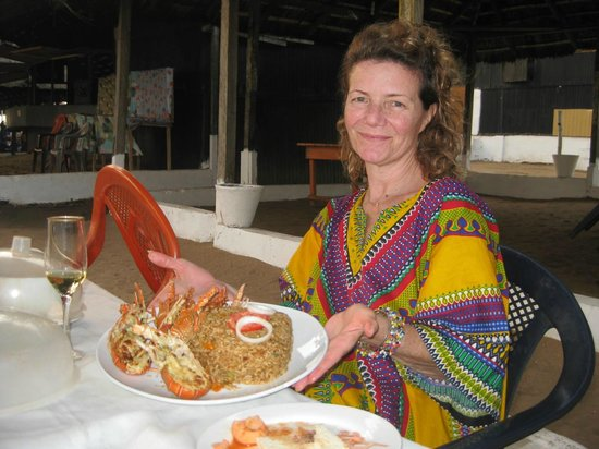 Cape Coast, Ghana: Fresh Grilled Lobster...yummm