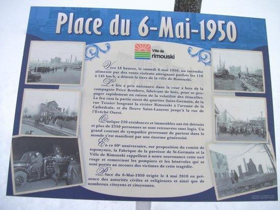 Bureau d'Information Touristique de Rimouski : Place du 6 mai 1950