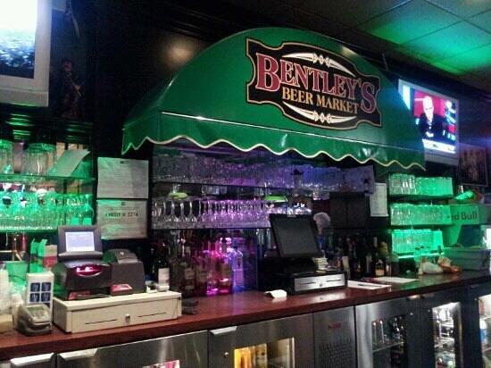 Bentley's: bentleys. back bar