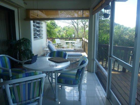 Star Villas:                   view of outdoor screened in dining area - Star Villa                 