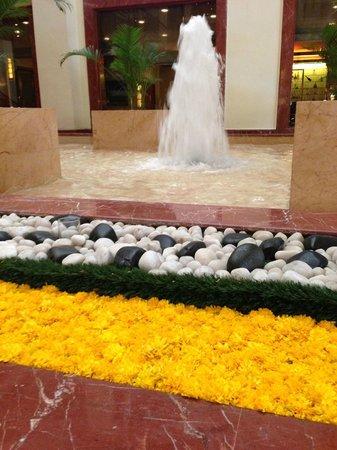 The Lalit Mumbai: Marigolds and fountain