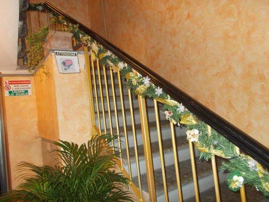 Hotel Leopolda: scala dell'entrata