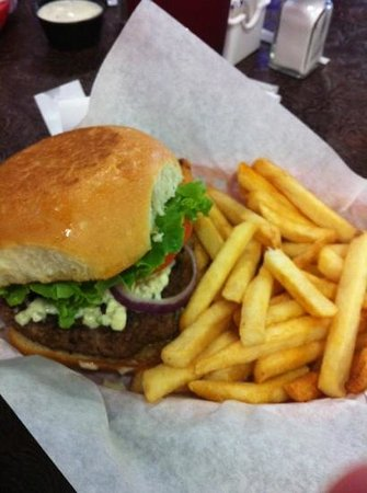 Denton, TX: Cartwright's Black & Bleu burger