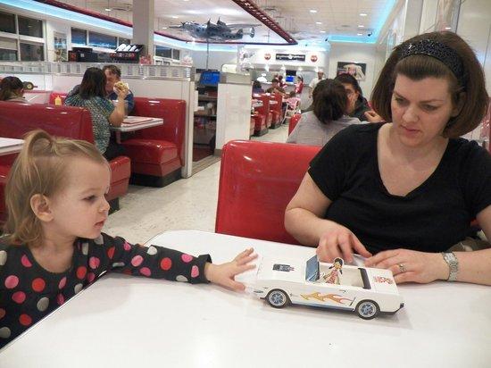 Ruby's Diner: Folding paper car for kids