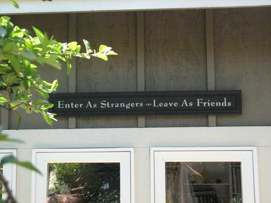 "Skiff Point Guest House: Front Main Entrance - ""Enter as Strangers - Leave as Friends"""