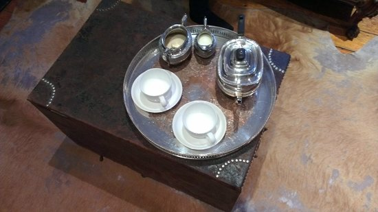 The Main House: Morning tea on a silver tray