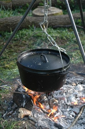 Woodmatters Bush Craft and Wood Courses: Dinner cooking