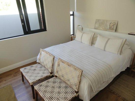 Christiana Lodge:                   Wunderbares Bett mit verschiedenen Kissenhärten