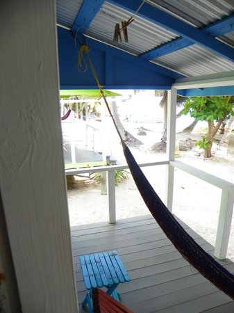 Tobacco Caye Lodge:                   view from door
